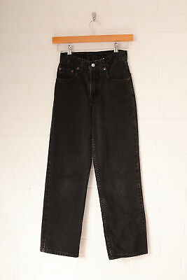 Vintage Levi's Boy's 550 Relaxed Straight Jeans Charcoal (W23 L25)