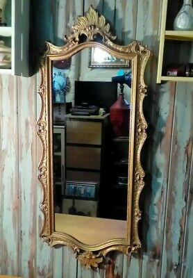 Large Vintage Ornate Wall Mirror. Rococo Style By Peerart.