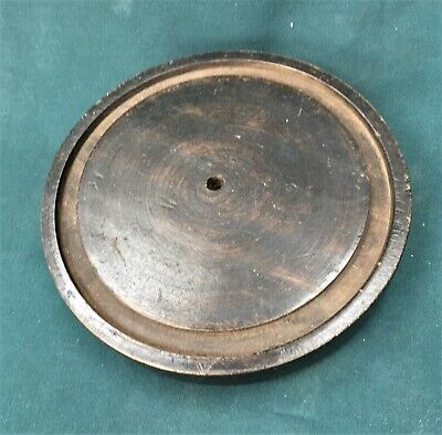 antique base for glass dome, clock, taxidermy, 16.6 cms. diam