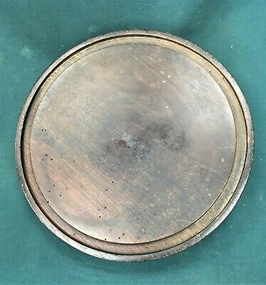 antique base for glass dome, clock, taxidermy, 21.7cms. diam