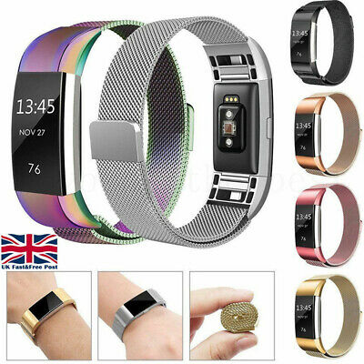 For Fitbit Charge 2 Strap Milanese Replacement Band Metal Magnet Stainless Steel
