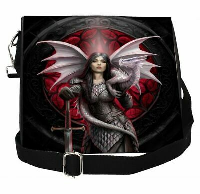 Anne Stokes Embossed Shoulder Bag featuring Valour design