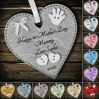 Personalised Happy Mothers Day gift plaque heart keepsake for Mummy Grandma