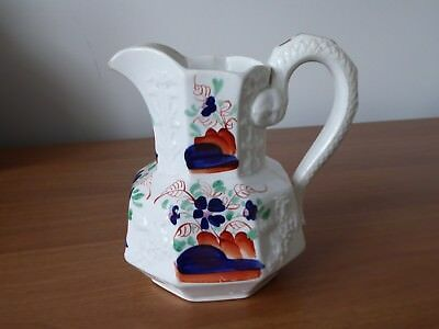 Bristol pottery pearlware jug with hand painted gaudy Welsh decoration c1840