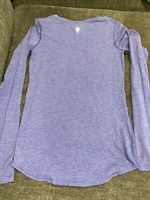 EUC! Ivivva Lululemon Girls 12 Long Sleeve Top Purple/blue