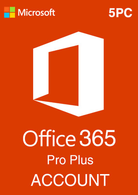 MS Office 365 ProPlus Lifetime Account 5 Devices Mac/Win 5TB OneDrive Instant