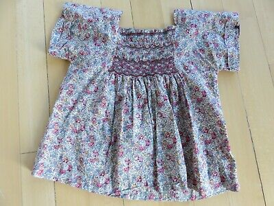 Bonpoint girls'  floral blouse top  Size 10 years