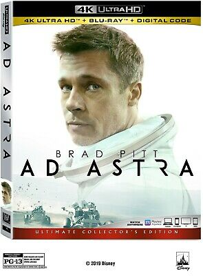 AD ASTRA 4k UHD + Blu-ray (No Digital) with Sleeves Cover untouched disc