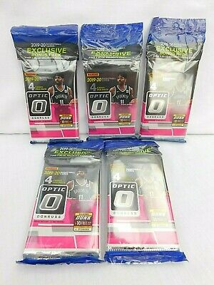 2019-2020 Panini Donruss OPTIC Basketball CELLO PACK Blue Velocity Zion LOT of 5