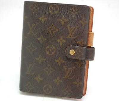 Authentic LOUIS VUITTON  MONOGRAM  Agenda MM Day Planner Cover  SP1913  0229a