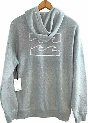 Billabong Square Grey Pop Hoodie / Hooded Pullover - Size M. NWT RRP$69.99