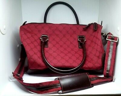 Ralph Lauren Signature Series Carry-on luggage Red Tote Bag