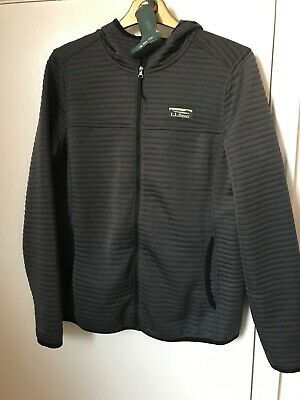 LLBean Women's Airlight Knit Full-Zip Hoodie Alloy Grey Size S NEW FREE KEYRING!