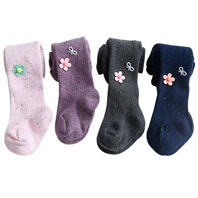 78% Cotton Soft Baby Girls Toddler Kids Tights Flowers Stockings Pantyhose Path
