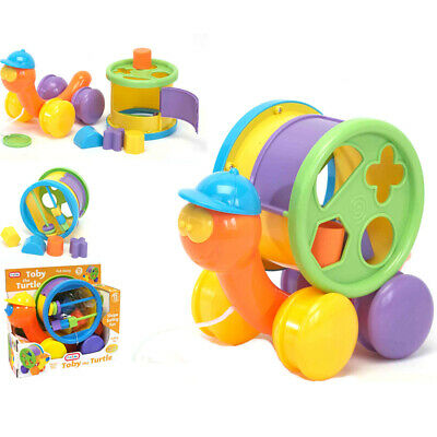 Funtime Toby the Turtle Shape Sorter Pull Along Learn and Play Baby Toy 12 m+