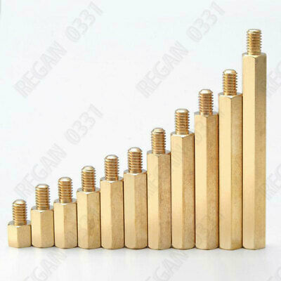 M3 Brass Copper Male-Female Hex Standoff Screw Spacer Pillar Brass Hex support