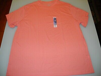 Mens Tshirt Coral George Soft Stretch Comfort Moisture Wicking Solid S//S NWT 3XL