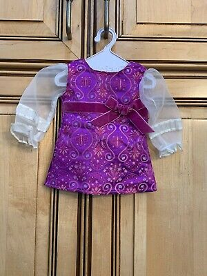 American Girl Doll Julie/'s Purple Lavender Paisley Holiday Outfit NEW!