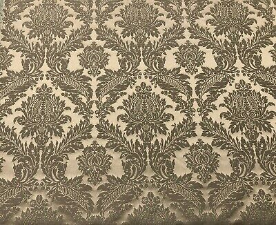 Lithuanian Luxury Damask Designer Brocade in BiscuitCurtain Upholstery Fabric