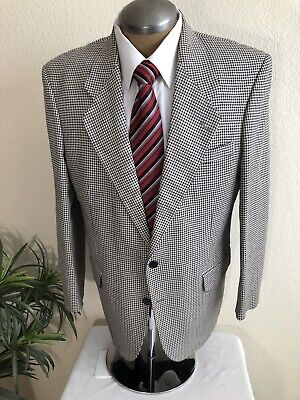 Gianfranco Ruffini Mens 42R Black and Beige Sport Suit Jacket Blazer EUC
