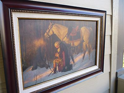 "Arnold Friberg ""The Prayer at Valley of Forge"" w/COA 15"" X 24"" Canvas"