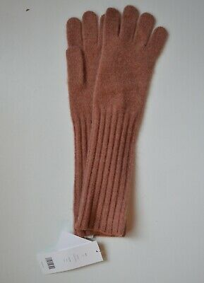 NWT $120 Vince Rib Cuffs Cashmere Gloves in Heather Rose Size OS