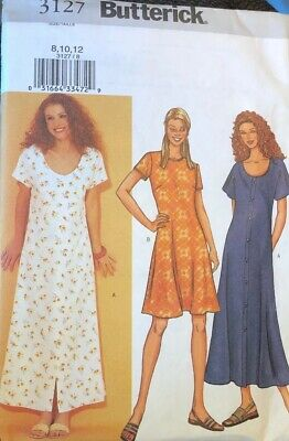 Butterick sewing pattern 3127 Misses Dress Easy Lined Dress Variations Uncut FF