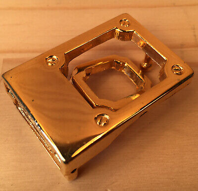 """CLASSIC BOX """"Gold"""" Traditional Lever Style Womens Metal Craft Sewing Belt Buckle"""