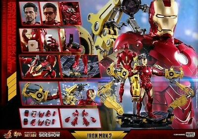 Hot Toys 1/6 Iron Man 2 Mms462D22 Mk4 Mark Iv With Suit-Up Gantry
