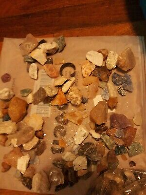 Miniatures Mineral Collection Crafters1/2 lb Mix Natural Gems Crystals Specimens