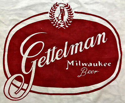 VTG 50s 1950s GETTELMAN Milwaukee Beer Brewery Brewing Company T SHIRT Deadstock