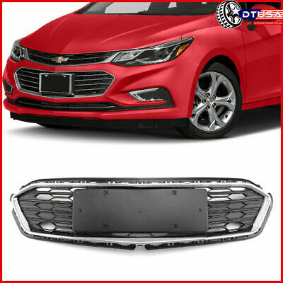 Lower Chrome Front Bumper Honeycomb Grille Grill for Chevrolet Cruze 2016-2018