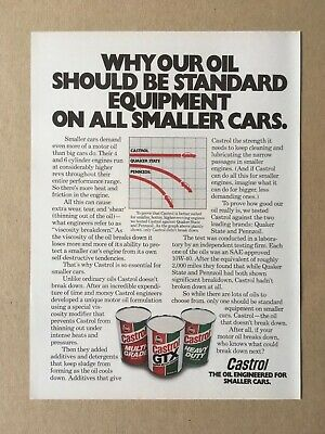 "1978 CASTROL MOTOR OIL ""WHY OUR OIL SHOULD BE..."" Original Print Ad, 8""x11"""