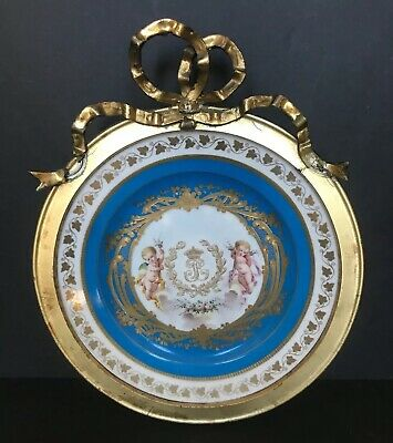 """Sevres Chateau Des Tuileries Louis Philippe Cabinet Plate 1844 8"""" Unusual Size"""