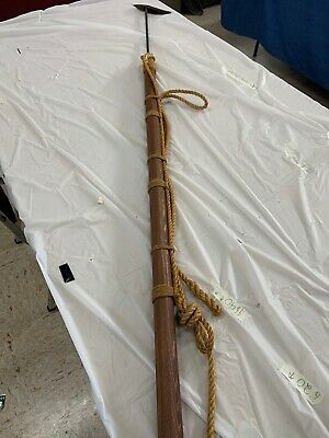 "Decorative 66"" Whaling/shark Harpoon. Brass, Rope, Patina, Beautiful!!!!"