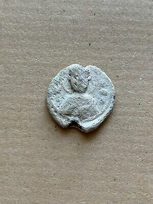 Byzantine lead seal/bleisiegel iconographic: Sts Nicholaos & Chrysostomos. Rare!