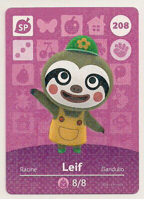 Animal Crossing amiibo Card: Leif 208 SP (Series 3) Special Character New Leaf