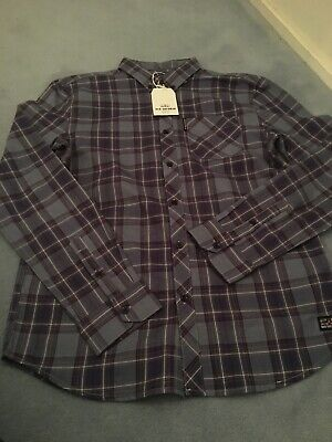Ben Sherman Boys Blue Long Sleeve Shirt Age 14-15 Years BNWT