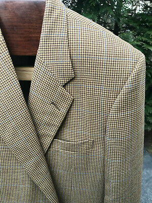 Tom James Hand Tailored Custom Holland and Sherry Woven Fabric Sportcoat SZ 42