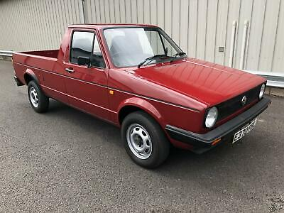 1987 Vw Volkswagen Caddy Golf Mk1 Pickup 1.6 Petrol Classic Commercial