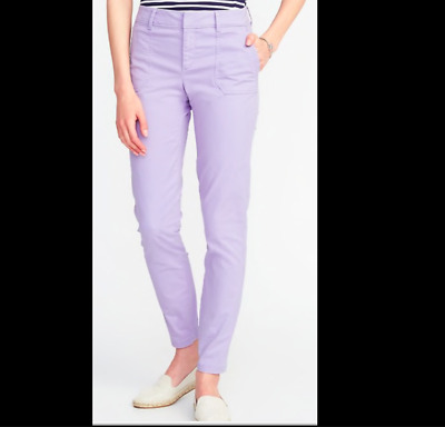 NWT Old Navy PIXIE Pants Utility 12, 18 Periwinkle Ankle stretch Purple Lavender