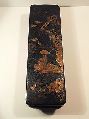Edo Period Japanese Lacquer Gold MAKIE Antique Box