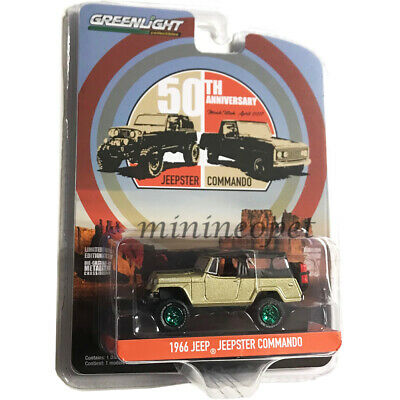 1:64 GreenLight *ANNIVERSARY COLLECTION 10* Gold 1966 Jeep Commando Jeepster NIP