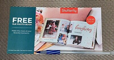 Shutterfly 8X8  20 Standard page Hard Photo Cover Book Code expires 4/30/2020