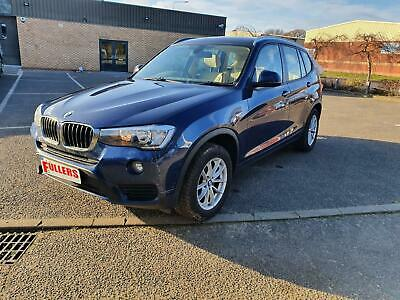 BMW X3 2.0TD 190bhp 2015 xDrive20d SE DAMAGED REPAIRABLE SALVAGE UNRECORDED