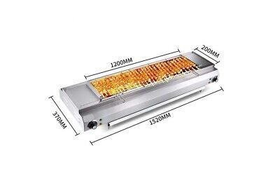Commercial Stainless Steel Automatic Turnover Electric BBQ 152*37*19.5cm #