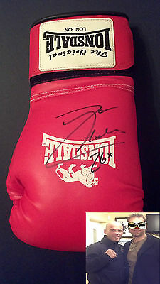 RYAN RHODES Signed LONSDALE BOXING GLOVE British Champion  COA