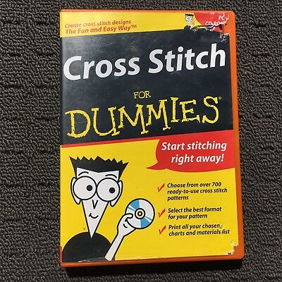 CROSS STITCH FOR DUMMIES Creative Embroidery PC Program Computer Software (2003)