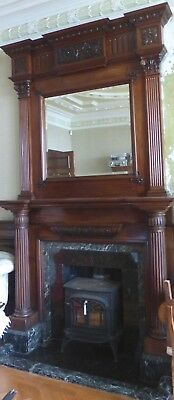 Arts & Crafts,1903,H295cm Shapland & Petter,Liberty,marble,wood fireplace,mirror