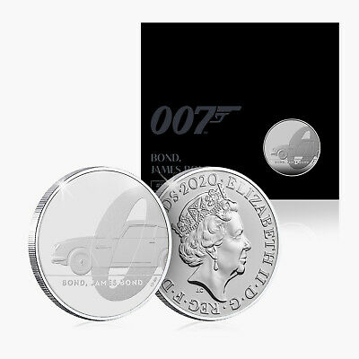 James Bond Coin 2020 Royal Mint BU £5 Official Five Pound Aston Martin Edition